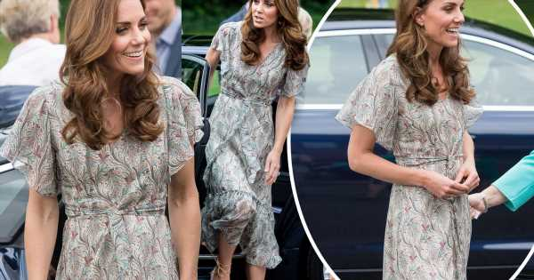 Kate Middleton stuns in paisley midi dress as she attends a photography workshop in London