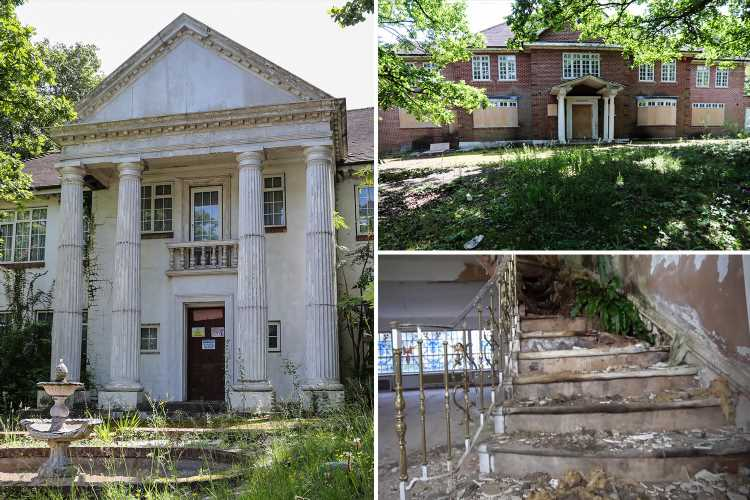 Inside the crumbling £350million mansions left abandoned on London's Billionaires' Row