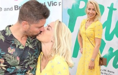 A Place In The Sun presenter Laura Hamilton kisses husband in rare red carpet appearance