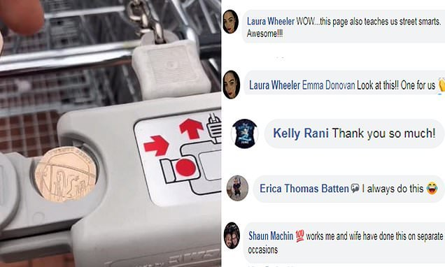 Shopper's hack to unlock supermarket trolley  when you don't have £1