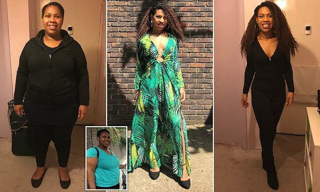 Mother who ballooned to 22st reveals how she lost HALF her weight
