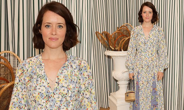 Wimbledon 2019: Claire Foy nails summer chic in a blue floral dress