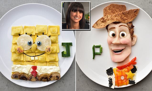 Creative mother creates incredible food art of cartoon characters