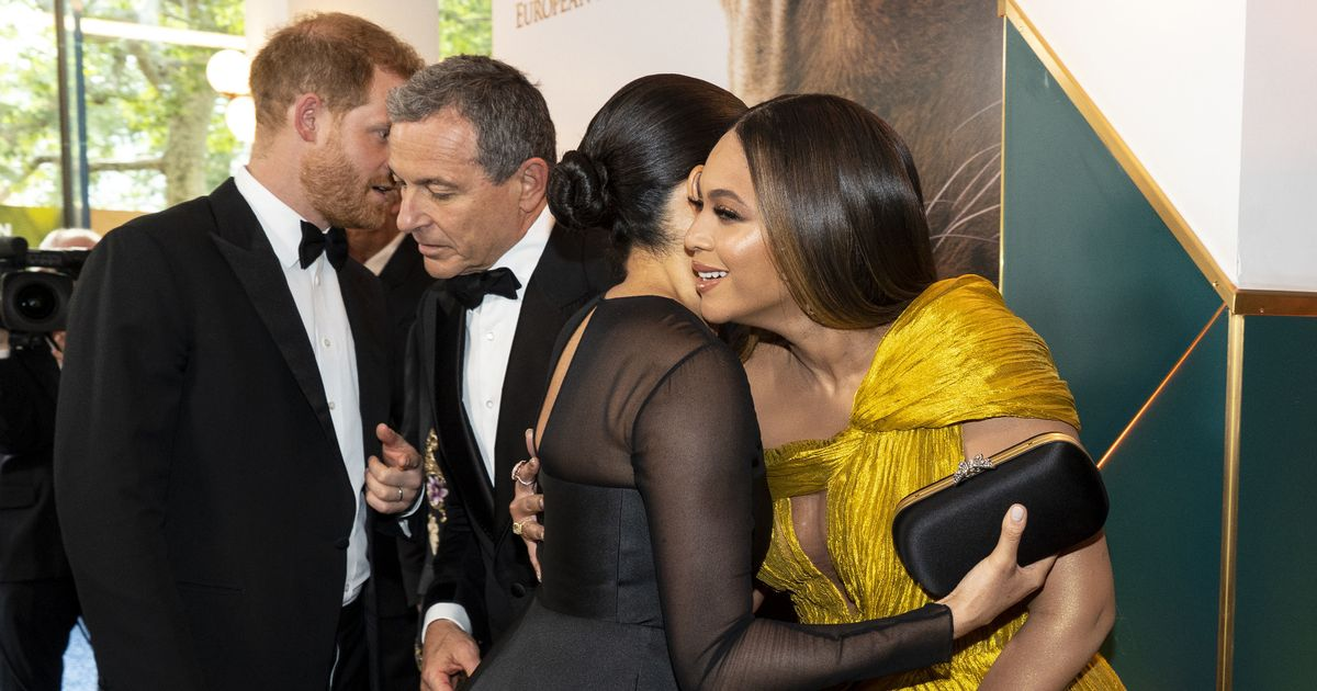 Beyonce makes cute comment about Archie as she hugs Meghan at film premiere