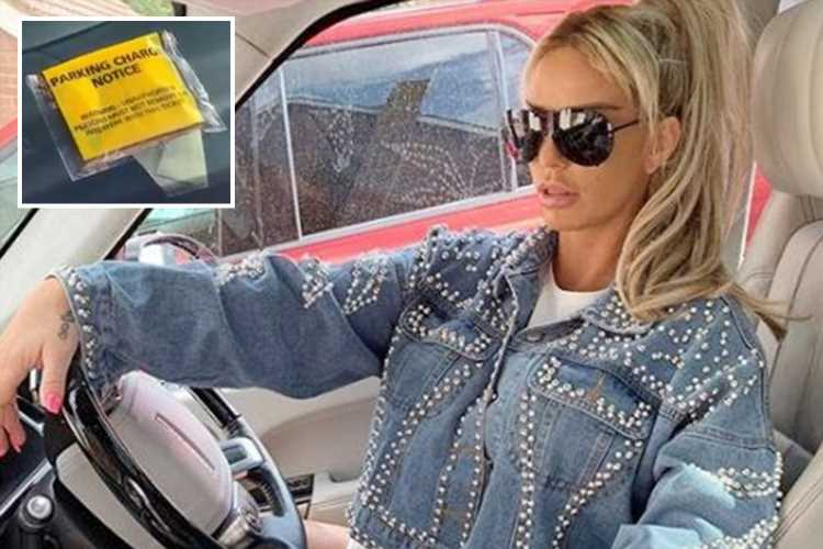 Katie Price fumes as she reveals she's got a parking ticket on her £70k pink Range Rover