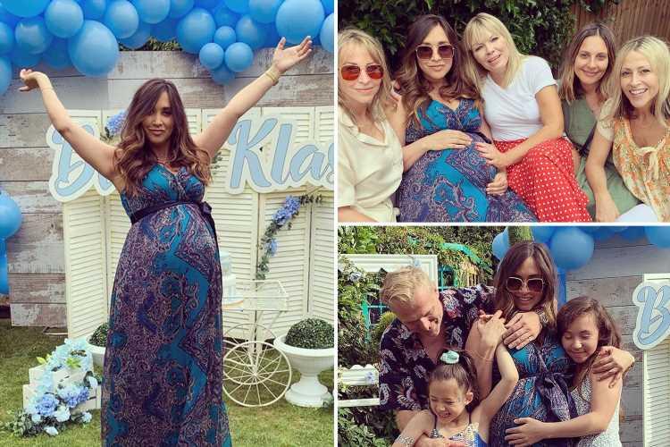 Pregnant Myleene Klass reveals she's having a boy as she celebrates baby shower with celeb pals