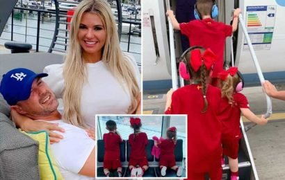 Christine and Paddy McGuinness's autistic children go on a plane for first time after six year wait
