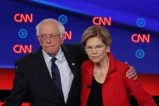 Bernie Sanders And Elizabeth Warren Teamed Up Instead Of Taking CNN's Bait