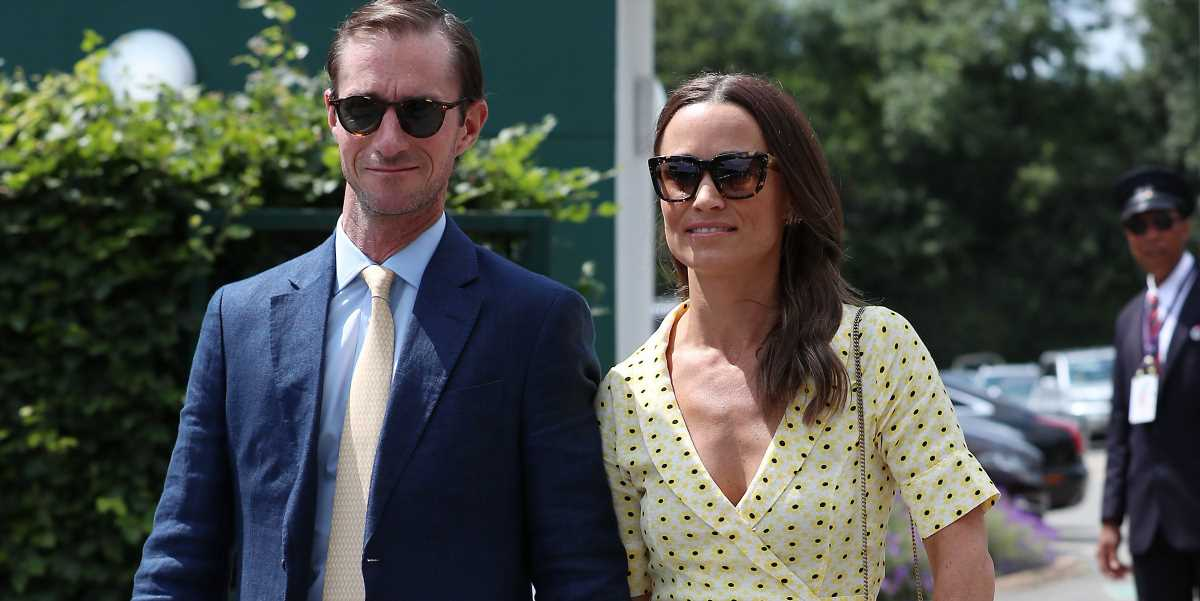Pippa Middleton Wears a Sunny Yellow Wrap Dress at Wimbledon