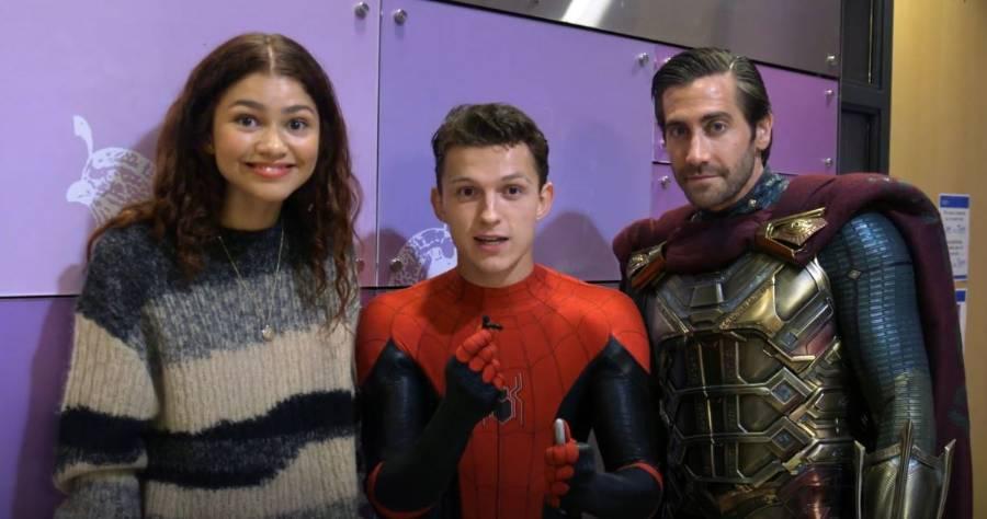 Watch 'Spider-Man: Far From Home' Stars Visit Children's Hospital Patients