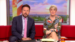 Steph McGovern says she had a 'rough start' to pregnancy and was almost sick on BBC Breakfast co-presenter as she battled morning sickness