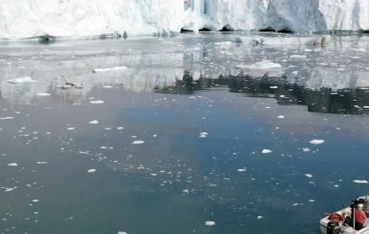 Drone flight over Arctic ice caps shows horrifying impact of North Pole heatwave