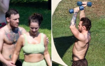 Conor McGregor and GF Vacation In Italy, Works Out On the Beach