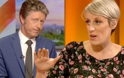 BBC News: Steph McGovern blames her pregnancy 'hormones' after co-host's shock swipe