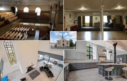 18th century church is transformed into eight-bedroom family home