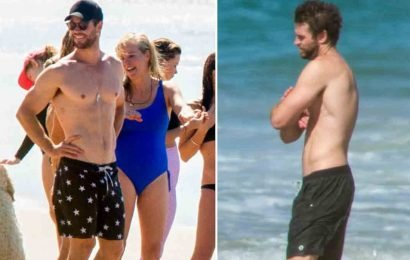 Chris and Liam Hemsworth Go Shirtless for Bro Session in Australia
