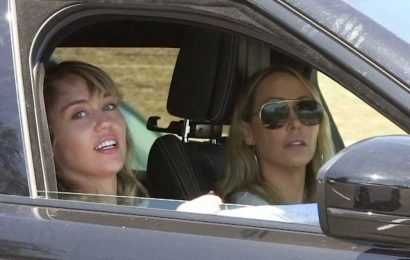 Miley Cyrus and Kaitlynn Carter step out with singer's mom Tish