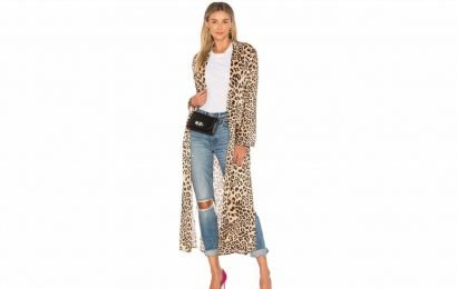 This Airy Leopard Duster Is Every Outfit's Secret Weapon