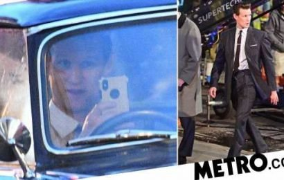 Matt Smith checks himself out as he takes selfie on Last Night In Soho set