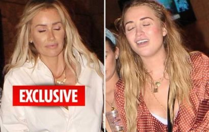 Love Island's Laura Anderson and Georgia Harrison look worse for wear as they leave boozy MTV party barefoot