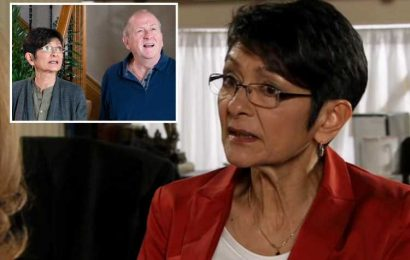 Coronation Street fans sob as Yasmeen tries to tell Cathy how smothered she feels by Geoff's controlling behaviour