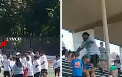 Marshawn Lynch's On-Field Confrontation With Camp Mom Caught On Video