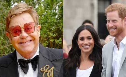 Elton John Slams Press Over Headlines About Prince Harry & Meghan Markle Taking a Private Jet to His France Residence