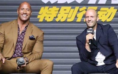 Dwayne Johnson & Jason Statham Bring 'Hobbs & Shaw' To China!