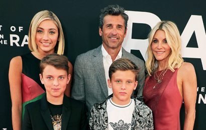 Patrick Dempsey Poses For Rare Family Photo With Adorable Twin Sons, 12, & Gorgeous Daughter, 17