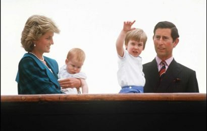 Prince William tells his kids that the late Princess Diana is 'watching over them from heaven'
