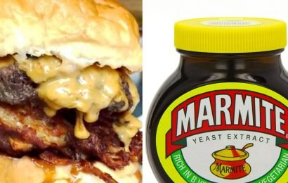 Marmite infused burger launches complete with marmite and cheese on toast sauce