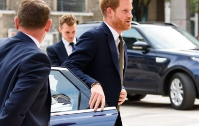 Prince Harry follows in Meghan's footsteps by shutting own car door