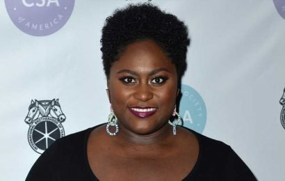 Pregnant Danielle Brooks Gets Her Makeup Done Lying Down, Eyes Closed