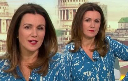 ITV GMB: Susanna Reid narrowly avoids wardrobe malfunction in 'see-through' frock
