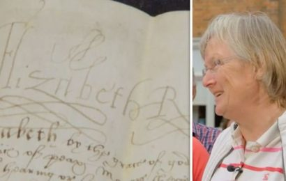 Antiques Roadshow guest speechless as letter signed by Elizabeth I gets enormous valuation