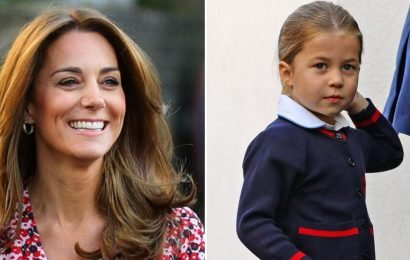 Kate's cute comment to Princess Charlotte as she walks into school on first day