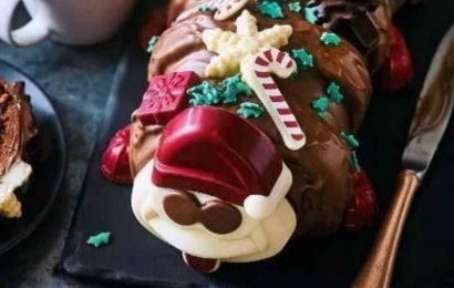 Marks and Spencer gives Colin The Caterpillar a Christmas makeover