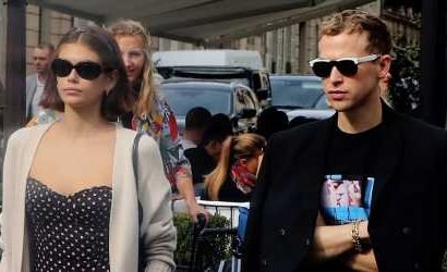 Kaia Gerber & Tommy Dorfman Step Out For Lunch in Paris