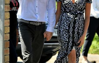 Meghan Markle and Prince Harry Step Out for First Outing on Tour in South Africa Holding Hands