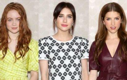 Sadie Sink, Emma Roberts, & Anna Kendrick Look Chic at Kate Spade's NYFW Show