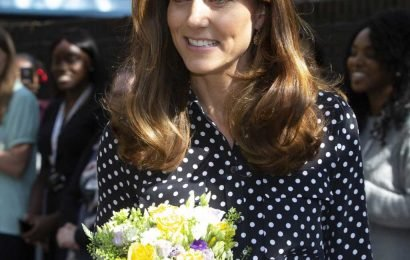 Kate Middleton makes surprise charity appearance in chic polka dot look
