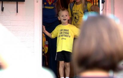 Four-year-old cancer survivor gets Bumblebee-themed birthday surprise from community
