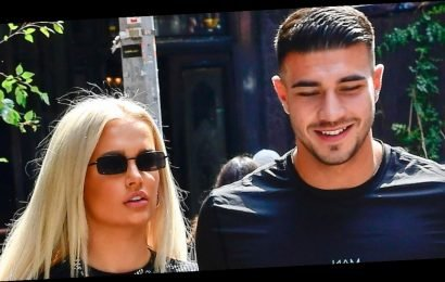 Love Island's Tommy Fury and Molly-Mae Hague mess around in the gym during boxing session