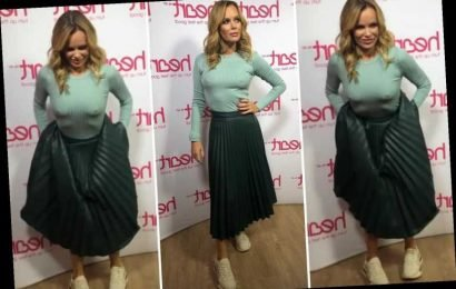 Amanda Holden left red-faced as her assistant films her 'sorting her lady stuff out' before a photoshoot
