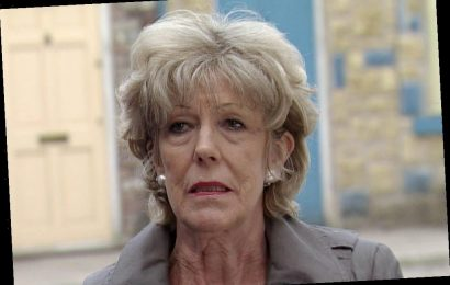 Coronation Street's Sue Nicholls written out of scenes after falling over in the dark and breaking collarbone – The Sun