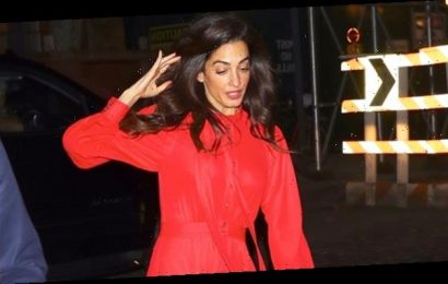 Amal Clooney Slips & Nearly Falls While Walking In High Heels On NYC Streets — Pic