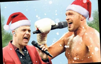 Tyson Fury teams up with Robbie Williams on festive duet in fight for Christmas No1 – The Sun