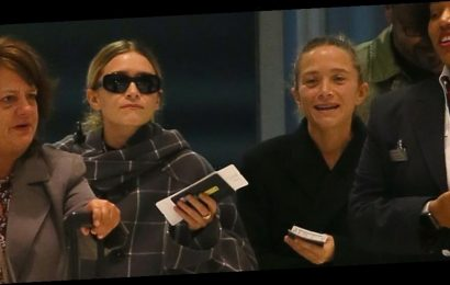 Mary-Kate & Ashley Olsen Arrive at JFK Airport Together in NYC