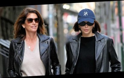 Kaia Gerber and Cindy Crawford Looked Like Twins in Matching Leather Jackets in NYC