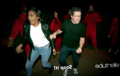 Watch Tiffany Haddish and Ellen DeGeneres' Producer Andy Lassner Go Through a Haunted House